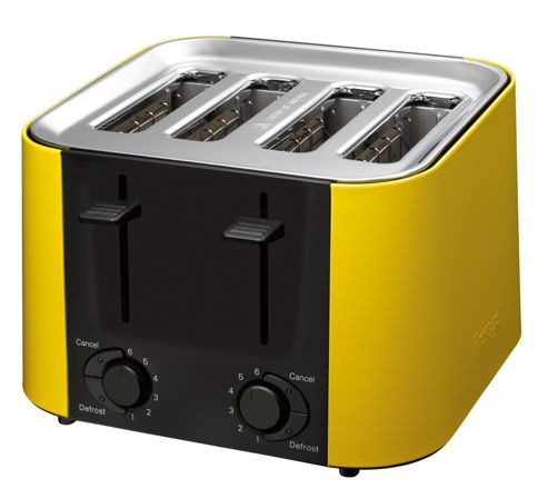 Prestige Daytona 4 Slice Toaster - Yellow