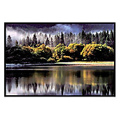 Gloss Black Framed Misty Reflection Poster