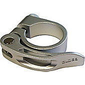 Acor Forged Alloy Q/R Seat Post Clamp: Silver 31.8mm.