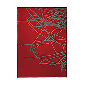 Esprit Brainstorm Burnt Orange Tufted Rug - 140 cm x 200 cm (4 ft 7 in x 6 ft 7 in)