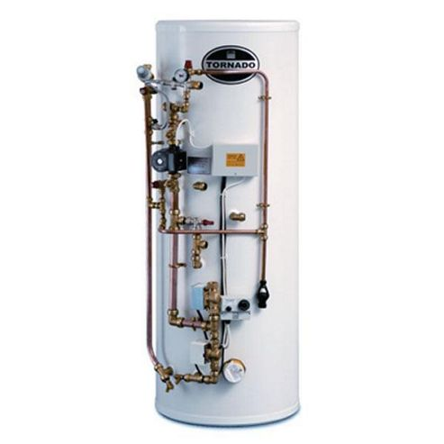 Telford Tornado Easyfit Unvented Pre-Plumbed Stainless Steel Hot Water Cylinder 125 LITRE