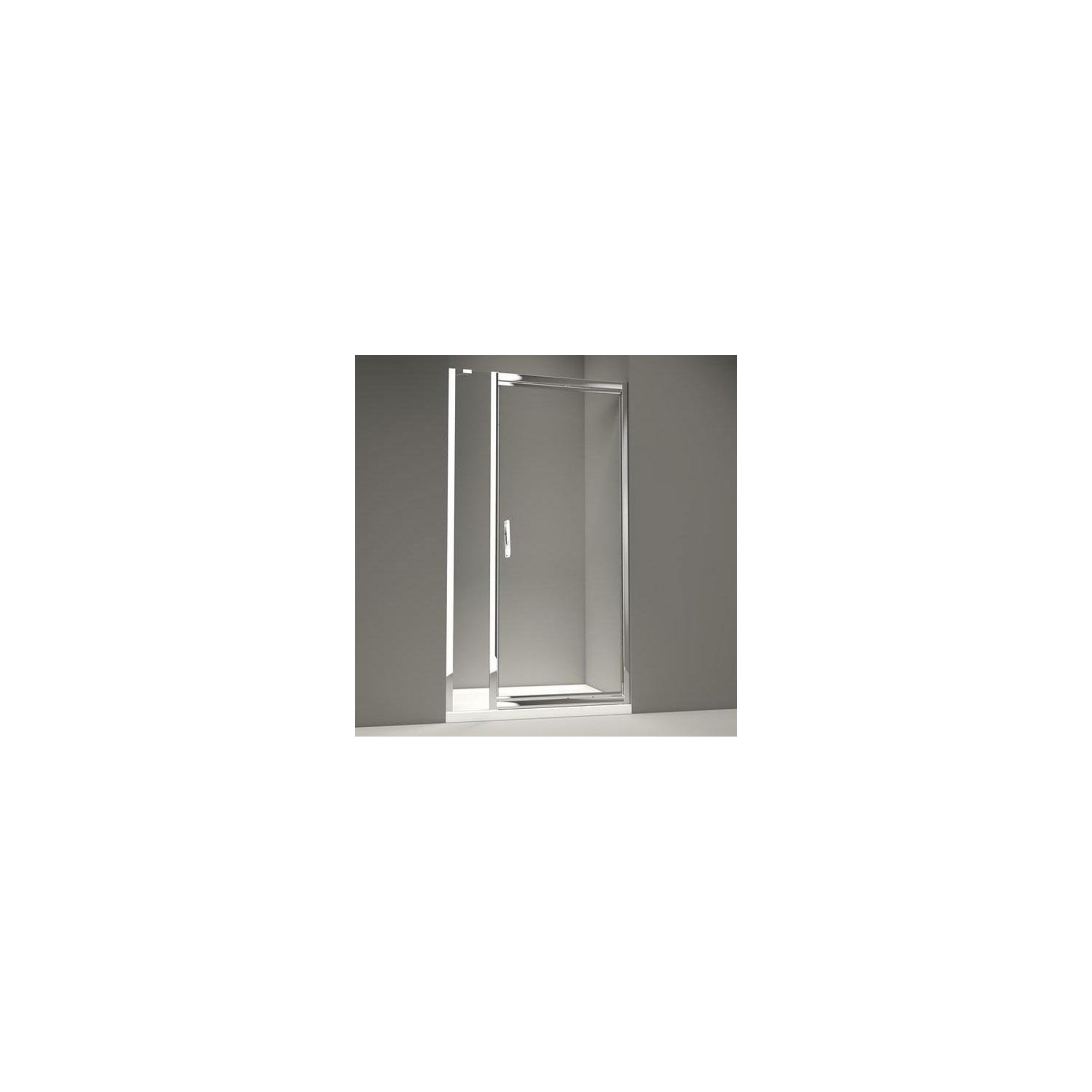 Merlyn Series 8 Inline Infold Shower Door, 1100mm Wide, Chrome Frame, 8mm Glass at Tesco Direct