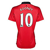 2013-14 Man United Ladies Home Shirt (Rooney 10) - Red
