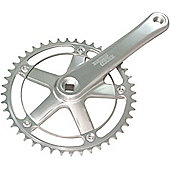 Sturmey-Archer FCT Single Chainset: Silver.