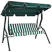 Bentley Garden 3 Seater Swing Seat - Green & White Striped