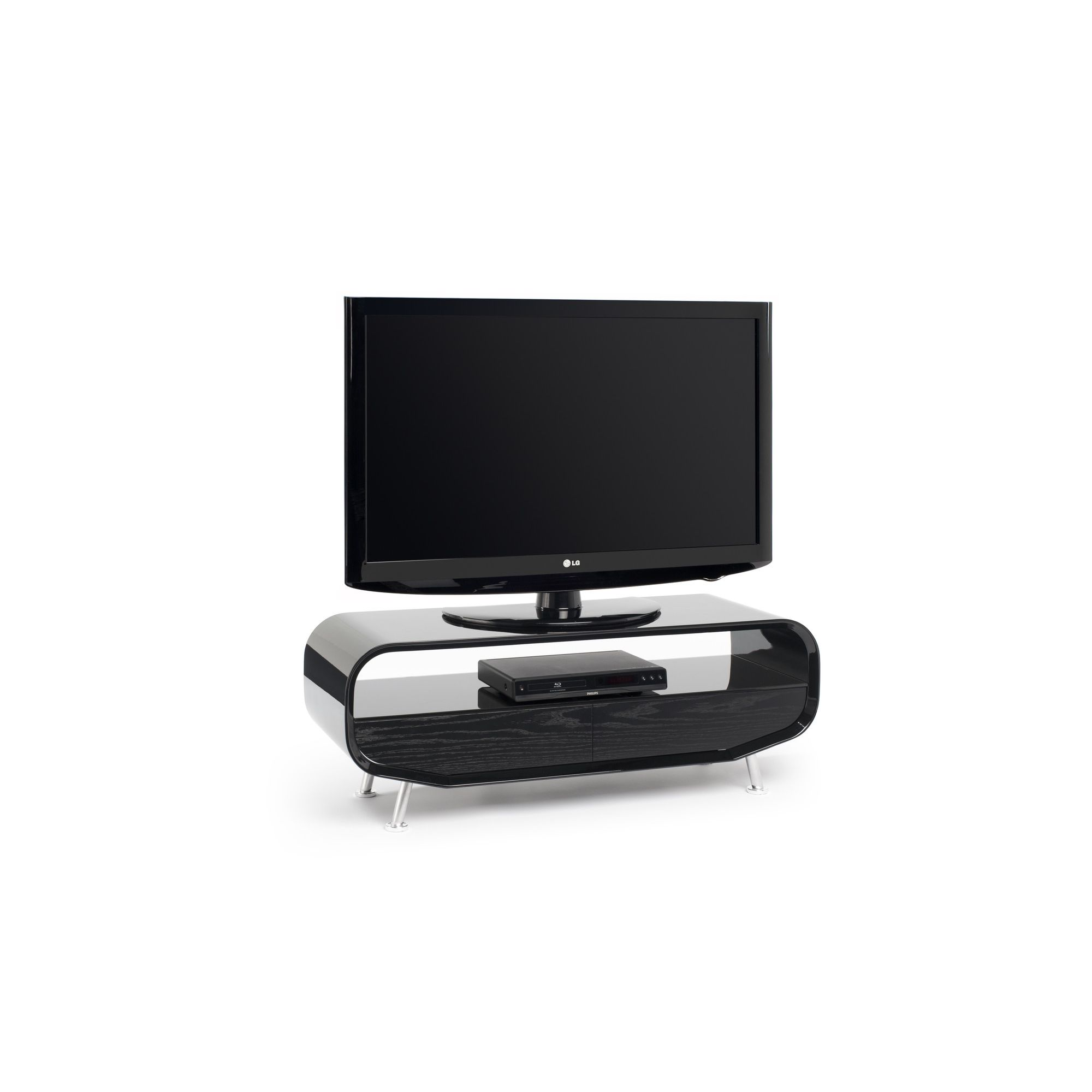 Techlink Ovid Evo 55'' Bent Wood TV Stand at Tesco Direct