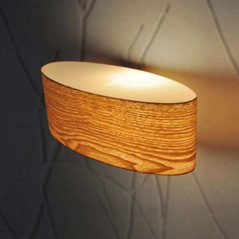 Wall Lights Tesco Direct : Buy Wood Veneer Oval Wall Light from our Single Wall Lights range - Tesco