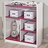 Aspect Design Franzisk Kidz - Line Shelf Unit - White / Magenta