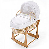 Silver Cloud Moses Basket (Counting Sheep)