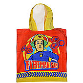Fireman Sam 'Saving the Day' Hooded Poncho Towel
