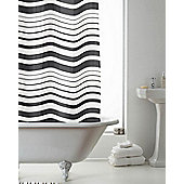 PEVA Shower Curtain Striped - Black
