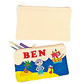 Plain Calico Fabric Pencil Cases (Pack of 5)