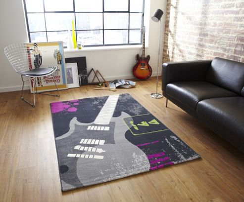 Oriental Carpets & Rugs Capri 4716 Guitar Rug - 80cm x 150cm