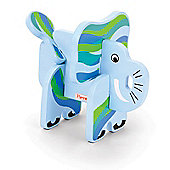 Manhattan Toy Elephant 3D Finished Wood Jungle Pals Stacking Puzzle 2+