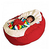 GaGa Red Cuddlesoft Pre-Filled Baby Bean Bag with Adjustable Safety Harness