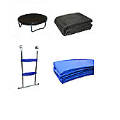 10 Ft Trampoline Accessory pack - Cover, Blue Pad, Netting and Ladder