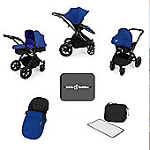 Ickle Bubba Stomp v3 AIO Travel System, Mosquito Net & Cup Holder - Blue (Black Chassis)