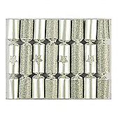 Robin Reed Crackers - Silver Glitter Stars - 8.5 Inch - 8 Pack