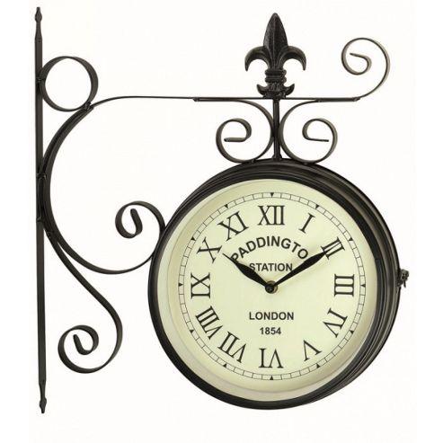 buy paddington station outdoor garden clock from our. Black Bedroom Furniture Sets. Home Design Ideas
