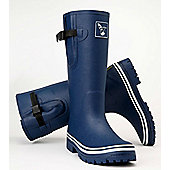 Evercreatures Classic Mens Wellies Blue White Edging 9
