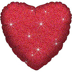 """Red Dazzler Heart Balloon - 18"""" Foil """