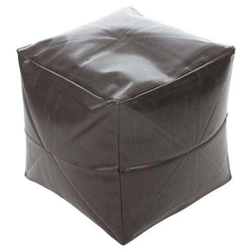 Faux Leather Cube Brown