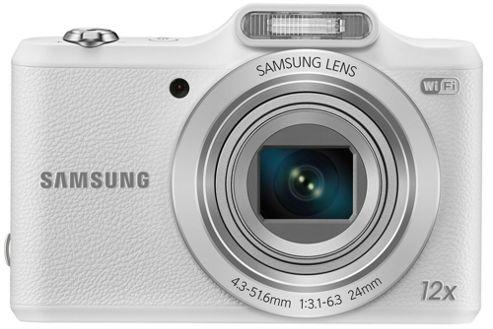 Samsung WB50F Smart Digital Camera, White, 16.2MP, 12x Optical Zoom, 3