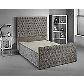 Luxan Provincial Bed Frame - Silver - Single 3ft - 2 Drawers