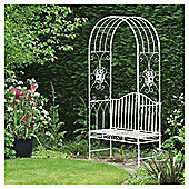 Amelia Garden Bench with Arch