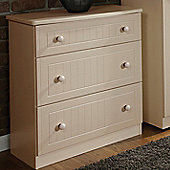 Welcome Furniture Coniston 4 Drawer Chest - Cream