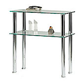 Hudson Hall Clear Glass Console Table