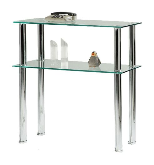 Buy Hudson Hall Clear Glass Console Table From Our Console