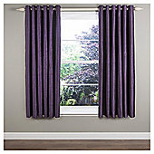 "Ripple Lined Eyelet Curtains W229xL229cm (90x90"") - - Plum"