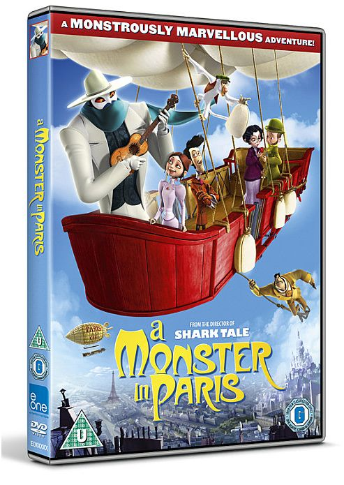 a Monster in Paris Dvd Cover a Monster in Paris Dvd