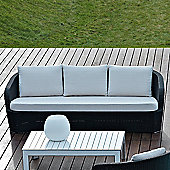 Varaschin Gardenia 3 Seater Sofa by Varaschin R and D - White - Panama Azzurro