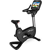 Life Fitness Platinum Club Discover SE Upright Bike WiFi - Arctic Silver