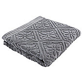 Tesco grey jacquard Hand Towel