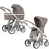 Bebecar Hip Hop Urban Magic White Combi Pram (408)