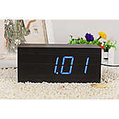 Click Clock Large Clock - Black/Blue