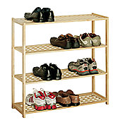 Premier Housewares 4 Tier Shoe Rack - Natural