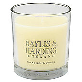 Baylis & Harding Boxed Candle, Black Pepper & Ginseng