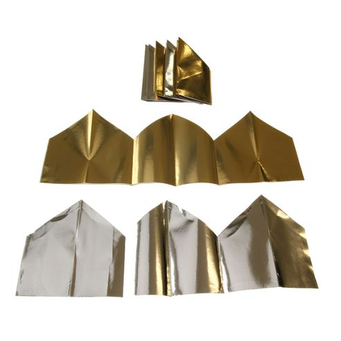Cracker Hats Foil Gold/Silver (12)