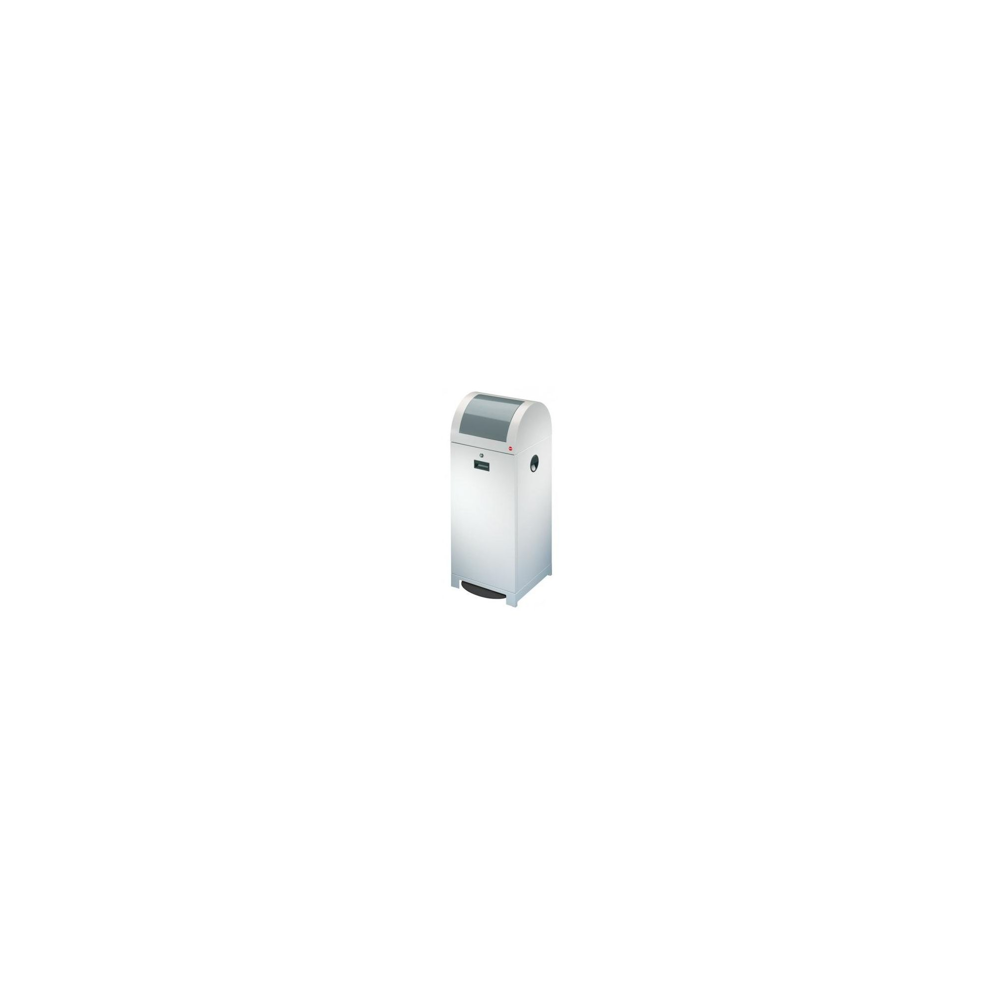 Hailo ProfiLine WSB 70P Recycling and Waste Bin in White Aluminium with Foot-operated Flap at Tescos Direct