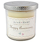 Happy Anniversary Candle