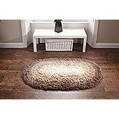 Oriental Carpets & Rugs Shadow Brown Sewn Rug - Oval 135cm L x 75cm W