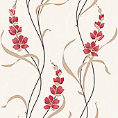 Muriva Angelica Wallpaper - Red