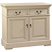 YP Furniture Country House Two Door Sideboard - Oak Top and Ivory