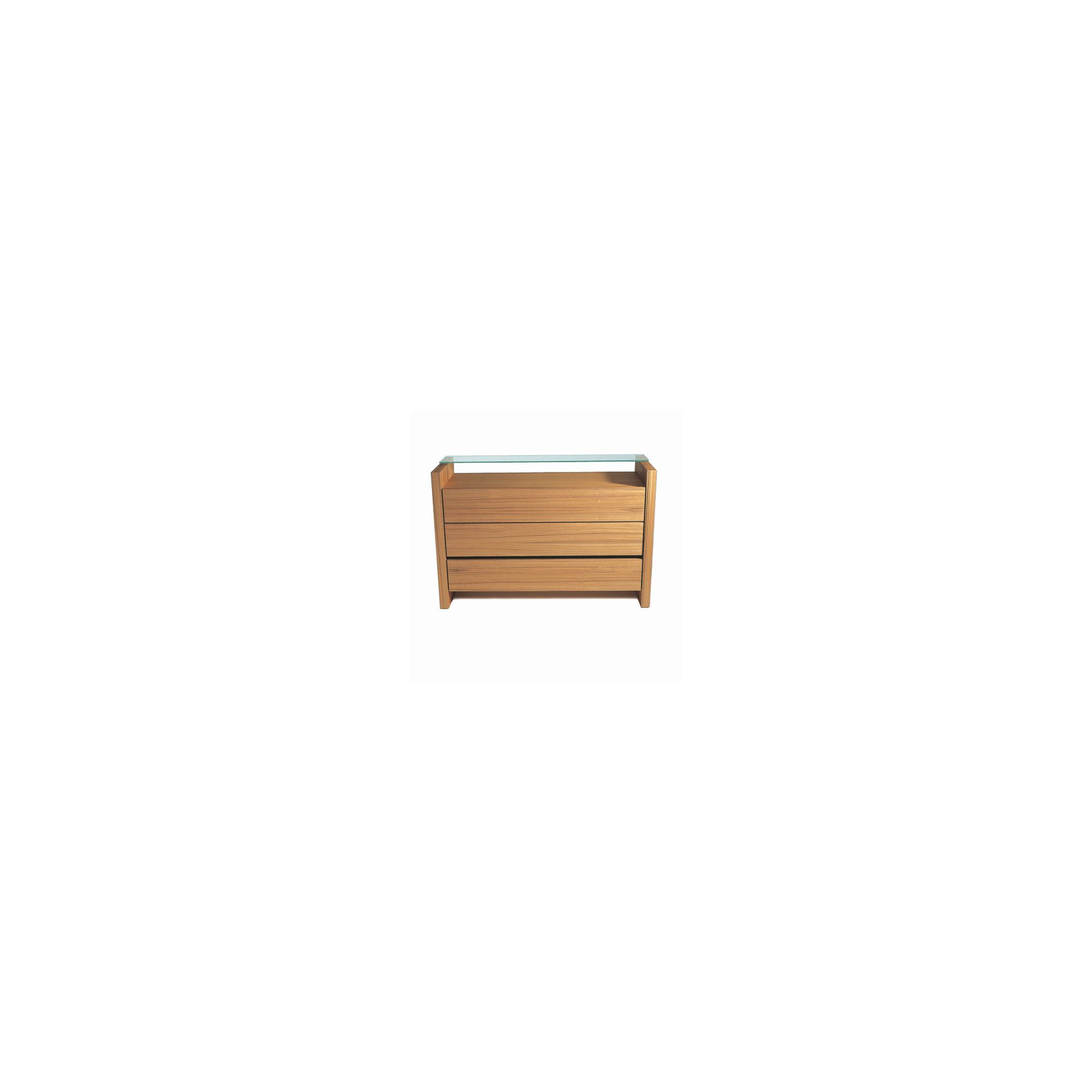 Gillmore Space Brompton Three Drawers Chest in Tigerwood at Tesco Direct