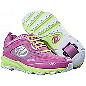 Heelys Swift Pink/Green/Silver Kids Heely Shoe - Pink
