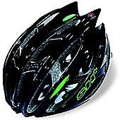 SH+ Zeuss Pro Helmet: Black/Green S/M.